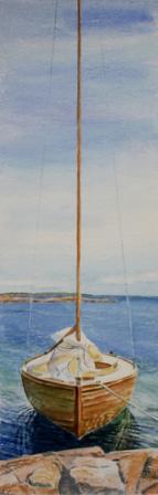 Segelbåt 25x72 cm