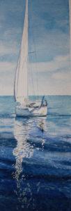 Akvarell Stilla Vatten